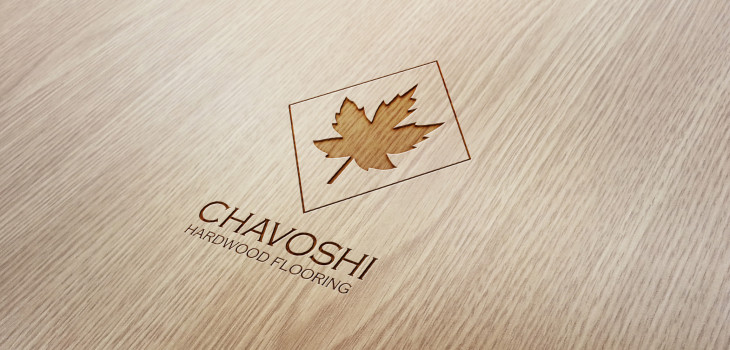 Chavoshi Hardwood Flooring logo on wood